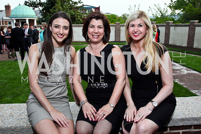 Kate Michael, CC Christakos, Josie Taylor. Photo by Tony Powell. Georgetown House Tour Patrons Party. Anderson/Schappell residence. April 24, 2013