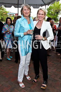 Belinda Winslow, Elizabeth Miller. Photo by Tony Powell. Georgetown House Tour Patrons Party. Anderson/Schappell residence. April 24, 2013