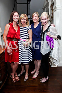 Anna Fuhrman, Nancy Taylor Bubes, Robin Jones, Doe Browning. Photo by Tony Powell. Georgetown House Tour Patrons Party. Anderson/Schappell residence. April 24, 2013