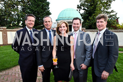 Martin Gammon, Matt McCormick, Page Evans, Michael Rankin, Jonathan Taylor. Photo by Tony Powell. Georgetown House Tour Patrons Party. Anderson/Schappell residence. April 24, 2013