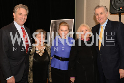 Paul Pelosi, Dean Carol Lancaster, Jeanne Ruesch, Ambassador Melanne Verveer and Paul Tagliabue.  Launch for Georgetown Institute on Women, Peace and Security.  Photo by Ben Droz. Hosted by Carol Lancaster, dean of the Edmund A. Walsh School of Foreign Service, Jeanne Reusch, Chair of the Board of the Georgetown Institute on Women, Peace and Security and Melanne Verveer, executive Director Geogetown Institute on Women, Peace and Security; Honoree: Dr. Claudia Paz y Paz, Attorney General of Guatemala
