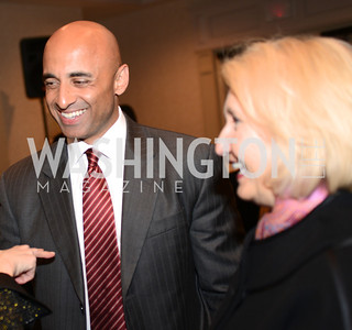 Ambassador Yousef Al Otaiba of the UAE with Ambassador Melanne Verveer, former U.S. Ambassador for Global Women's Issues and Executive Director of the Georgetown Institute for Women, Peace and Security. (L-R) Launch for Georgetown Institute on Women, Peace and Security.  Photo by Ben Droz. Hosted by Carol Lancaster, dean of the Edmund A. Walsh School of Foreign Service, Jeanne Reusch, Chair of the Board of the Georgetown Institute on Women, Peace and Security and Melanne Verveer, executive Director Geogetown Institute on Women, Peace and Security; Honoree: Dr. Claudia Paz y Paz, Attorney General of Guatemala