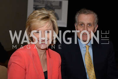 Tina Brown, editor-in-chief of Newsweek and The Daily Beast with Paul Tagliabue, chair of Georgetown University's board of directors and former NFL commissioner.  Launch for Georgetown Institute on Women, Peace and Security.  Photo by Ben Droz. Hosted by Carol Lancaster, dean of the Edmund A. Walsh School of Foreign Service, Jeanne Reusch, Chair of the Board of the Georgetown Institute on Women, Peace and Security and Melanne Verveer, executive Director Geogetown Institute on Women, Peace and Security; Honoree: Dr. Claudia Paz y Paz, Attorney General of Guatemala