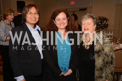 Burmese peace activist and former prisoner of conscience, Zin Mar Aung, with Guatemalan Attorney General Dr. Claudia Paz y Paz and Dean Carol Lancaster of the School of Foreign Service. (L-R)  Launch for Georgetown Institute on Women, Peace and Security.  Photo by Ben Droz. Hosted by Carol Lancaster, dean of the Edmund A. Walsh School of Foreign Service, Jeanne Reusch, Chair of the Board of the Georgetown Institute on Women, Peace and Security and Melanne Verveer, executive Director Geogetown Institute on Women, Peace and Security; Honoree: Dr. Claudia Paz y Paz, Attorney General of Guatemala