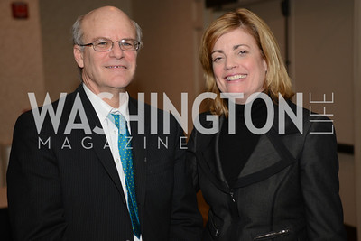 Deputy Administrator of USAID, Don Steinberg, with Mary Jordan, Pulitzer-prize winning journalist.  Launch for Georgetown Institute on Women, Peace and Security.  Photo by Ben Droz. Hosted by Carol Lancaster, dean of the Edmund A. Walsh School of Foreign Service, Jeanne Reusch, Chair of the Board of the Georgetown Institute on Women, Peace and Security and Melanne Verveer, executive Director Geogetown Institute on Women, Peace and Security; Honoree: Dr. Claudia Paz y Paz, Attorney General of Guatemala