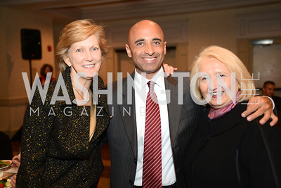 Ambassador Nancy McEldowney, head of the Foreign Service Institute, with the UAE Ambassador to the U.S. Yousef Al Otaiba and Ambassador Melanne Verveer, head of the Georgetown Institute for Women, Peace and Security. (L-R) Launch for Georgetown Institute on Women, Peace and Security.  Photo by Ben Droz. Hosted by Carol Lancaster, dean of the Edmund A. Walsh School of Foreign Service, Jeanne Reusch, Chair of the Board of the Georgetown Institute on Women, Peace and Security and Melanne Verveer, executive Director Geogetown Institute on Women, Peace and Security; Honoree: Dr. Claudia Paz y Paz, Attorney General of Guatemala