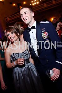 Anna McLendon, James Nolan. Photo by Tony Powell. Georgetown University Diplomatic Ball. Mellon Auditorium. April 12, 2013