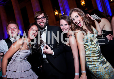 Zach Aschenfarb, Tara Hill, George Burton, Sydney Schauer, Alexandra Eitel. Photo by Tony Powell. Georgetown University Diplomatic Ball. Mellon Auditorium. April 12, 2013