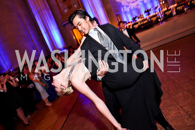 Emma Derback, Alan Chen. Photo by Tony Powell. Georgetown University Diplomatic Ball. Mellon Auditorium. April 12, 2013