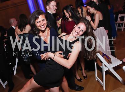 Emily Malavenda, Lauren Cournoyer. Photo by Tony Powell. Georgetown University Diplomatic Ball. Mellon Auditorium. April 12, 2013