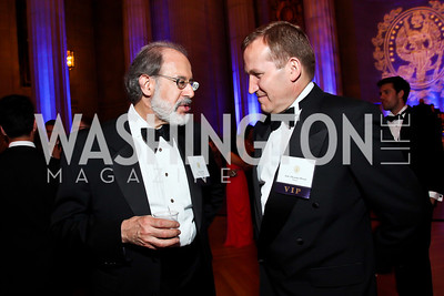 Harley Balzer, Ukrainian Amb. Olexander Motsyk. Photo by Tony Powell. Georgetown University Diplomatic Ball. Mellon Auditorium. April 12, 2013