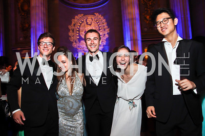 Pierre Ceols-Fischer, Elena Moeglen, Stefan Monaghan, Catalina DeLa Sota, Michael Lee. Photo by Tony Powell. Georgetown University Diplomatic Ball. Mellon Auditorium. April 12, 2013