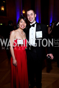 Event Chairs Elaine Li and Alex Pommier. Photo by Tony Powell. Georgetown University Diplomatic Ball. Mellon Auditorium. April 12, 2013