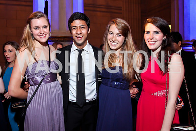 Dana Mitchell, Monish Sabnani, Hayden Freedman, Tess Kilbane Myers. Photo by Tony Powell. Georgetown University Diplomatic Ball. Mellon Auditorium. April 12, 2013