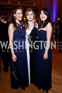 Hania Elbanhawi, Tessa Bell, Michelle Xu. Photo by Tony Powell. Georgetown University Diplomatic Ball. Mellon Auditorium. April 12, 2013