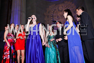 Georgetown University a cappella group Superfood. Photo by Tony Powell. Georgetown University Diplomatic Ball. Mellon Auditorium. April 12, 2013