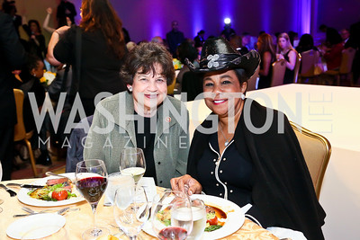 Lois Frankel, Rep. Frederica Wilson. Photo by Tony Powell. Global Down Syndrome Foundation Gala. Ritz Carlton. May 8, 2013