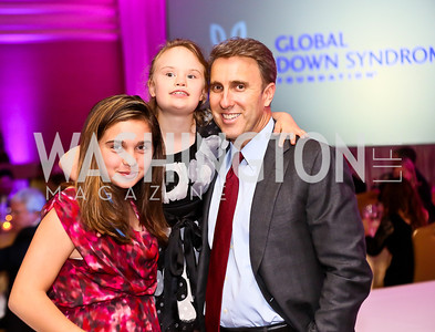 Sofia, Charlotte, and Scott LaRose. Photo by Tony Powell. Global Down Syndrome Foundation Gala. Ritz Carlton. May 8, 2013