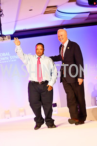 Darian Holman, Rep. Mike Hawkins. Photo by Tony Powell. Global Down Syndrome Foundation Gala. Ritz Carlton. May 8, 2013