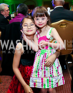 Lillian and Abigail Bridgeman. Photo by Tony Powell. Global Down Syndrome Foundation Gala. Ritz Carlton. May 8, 2013