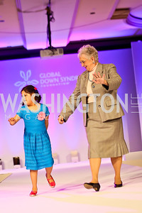 Canela Bahamonde, Rep. Virginia Foxx. Photo by Tony Powell. Global Down Syndrome Foundation Gala. Ritz Carlton. May 8, 2013
