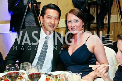 Jason Yoo, Heather Guay. Photo by Tony Powell. Global Down Syndrome Foundation Gala. Ritz Carlton. May 8, 2013