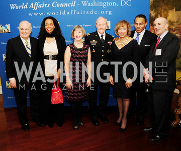 Steven Knapp, Hillary Thomas, Lake ,Deanie Dempsey,Gen.Martin Demspey,Jackie Hrabowski,Freeman, Hrabowski,Marc Albert,March 7,2013,Global Education Gala,Kye Samperton