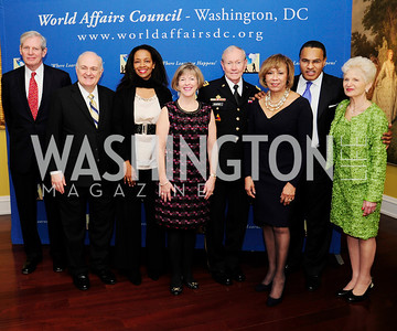 John Duff,Steven Knapp, Hillary Thomas, Lake ,Deanie Dempsey,Gen.Martin Demspey,Jackie Hrabowski,Freeman, Hrabowski,Marc Albert,Edie Fraser,March 7,2013,Global Education Gala,Kye Samperton