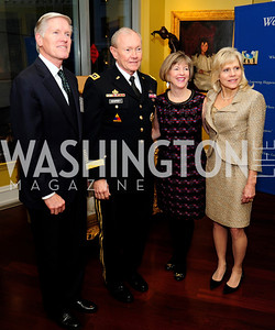 Shepard Hill, Gen. Martin Dempsey,Deanie Dempsey Kathy Hill,,March 7,2013,Global Education Gala,Kye Samperton
