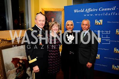 Gen.Martin DempseyDeanie Dempsey,  Jackie Bolden,Charles Bolden,March 7,2013,Global Education Gala,Kyle Samperton