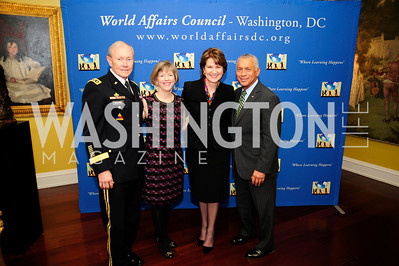 Gen.Martin DempseyDeanie Dempsey,  Marillyn Hewson,Charles Bolden,March 7,2013,Global Education Gala,Kyle Samperton