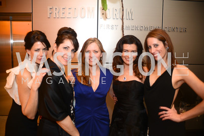 Melissa Fitzgerald, Shelley Cohen, Suzanne Hunt, Leilani Munter, Jacki Schechner,  The Inaugural Green Ball on Sunday, January 20th , 2013. Newseum.