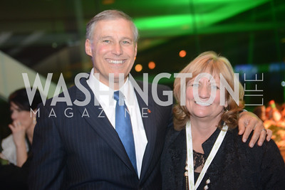Governor Jay Inslee (WA) and wife. The Inaugural Green Ball on Sunday, January 20th , 2013. Newseum.