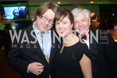 Ian Fisk, Rebecca Yarbrough,  Randy Hayes, The Inaugural Green Ball on Sunday, January 20th , 2013. Newseum.