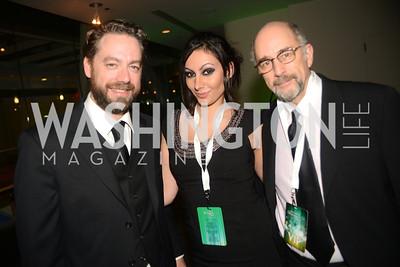 Brent Koske, Richard Schiff, Sofia Samrad, Chasing the Hill,  The Inaugural Green Ball on Sunday, January 20th , 2013. Newseum.