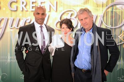 Jeffrey Wright, Mellisa Fitzgerald, Boris Kodjoe,  The Inaugural Green Ball on Sunday, January 20th , 2013. Newseum.