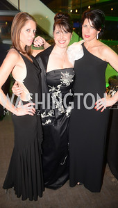 Shelley Cohen, Jacki Schechner, Melissa Fitzgerald,The Inaugural Green Ball on Sunday, January 20th , 2013. Newseum.