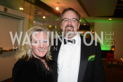Monica Cortright, Alex Cortright, The Inaugural Green Ball on Sunday, January 20th , 2013. Newseum.