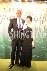 Jeffrey Wright, Mellisa Fitzgerald,  The Inaugural Green Ball on Sunday, January 20th , 2013. Newseum.