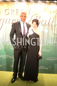 Jeffrey Wright, Mellisa Fitzgerald,  The Inaugural Green Ball on Sunday, January 20th , 2013. Newseum.