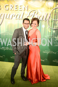 Kinsey Kiriakos, Bridget Groves,The Inaugural Green Ball on Sunday, January 20th , 2013. Newseum.