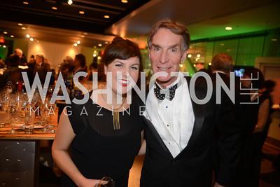 Rebecca Yarbrough, Bill Nye, The Inaugural Green Ball on Sunday, January 20th , 2013. Newseum.