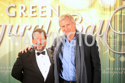 DC Shadow Senator Paul Strauss, Boris Kodjoe,  The Inaugural Green Ball on Sunday, January 20th , 2013. Newseum.