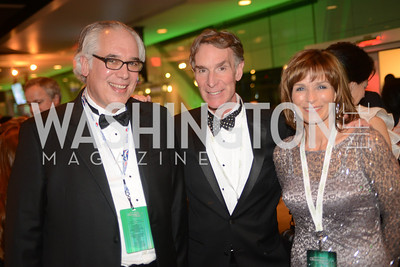 Dr. Carl Pechman, Bill Nye the Science Guy, Marianne Smith,  The Inaugural Green Ball on Sunday, January 20th , 2013. Newseum.