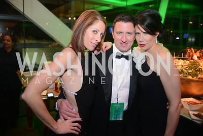Jacki Schechner, Roland Scahill, Melissa Fitzgerald,  The Inaugural Green Ball on Sunday, January 20th , 2013. Newseum.