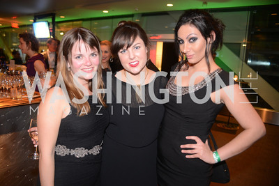 Kate Nolan, Rebecca Yarbrough, Sofia Samrad,  The Inaugural Green Ball on Sunday, January 20th , 2013. Newseum.