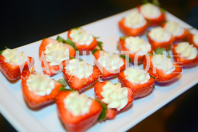Strawberries and cream,  The Inaugural Green Ball on Sunday, January 20th , 2013. Newseum.
