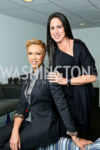 "Executive Producers Nikki Silver and Tonya Lewis Lee. Photo by Tony Powell. Hallmark Channel screening of ""The Watsons Go to Birmingham."" Newseum. September 17, 2013"