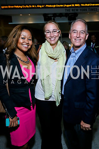 "Mavis Baah, Jenny Nason, Greg Vistica. Photo by Tony Powell. Hallmark Channel screening of ""The Watsons Go to Birmingham."" Newseum. September 17, 2013"