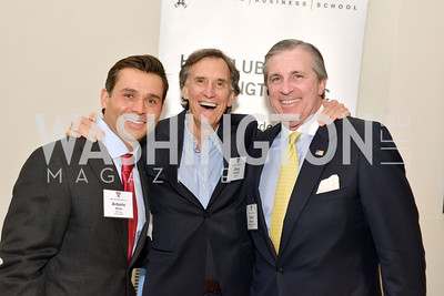 Antonio Alves, Doug Holladay, Robert Monahan,  Harvard Business School hosts a reception at the French Embassy.  October 23, 2013.  Photo by Ben Droz.